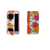 """Чехол книжка для iPhone 6 / 6s (4.7"""") красные и желтые розы"""