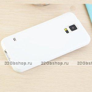 Белый силиконовый чехол для Samsung Galaxy S5 mini
