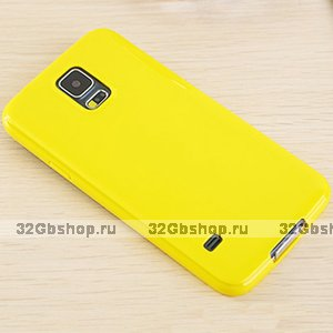 Желтый силиконовый чехол для Samsung Galaxy S5 mini