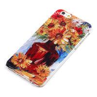 """Силиконовый чехол накладка для iPhone 6 / 6s (4.7"""") цветы герберы"""