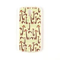 Силиконовый чехол для Samsung Galaxy S4 mini с рисунком жирафы