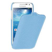 Чехол книжка для Samsung Galaxy S4 mini i9190 голубой