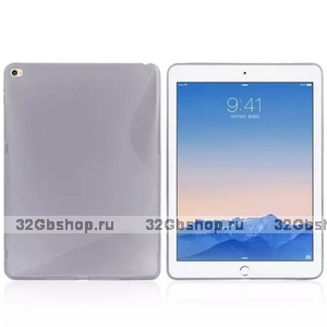 Серый силиконовый чехол для iPad Air 2 - S Line Grey Silicone Case