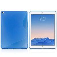 Синий силиконовый чехол для iPad Air 2 - S Line Blue Silicone Case