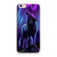 """Силиконовый чехол с рисунком для iPhone 6 / 6s (4.7"""") волк воет на Луну"""