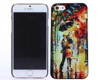 """Чехол с рисунком для iPhone 6 / 6s (4.7"""") пара под зонтом в парке"""