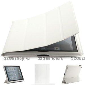 Белый чехол обложка с рамкой Mobi Cover для iPad 4 / 3 / 2