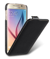 Черный кожаный чехол для Samsung Galaxy S6 - Melkco Jacka Type Leather Case Black LC