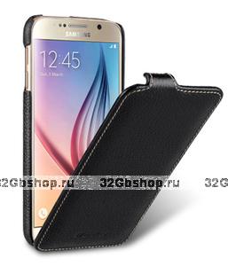 Черный кожаный чехол для Samsung Galaxy S6 - Melkco Jacka Type Leather Case Black LC