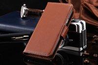 Чехол книжка для Samsung Galaxy S6 коричневый с отделением для карт