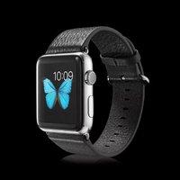 Кожаный ремешок для Apple Watch 42мм черный - G-Case Genuine Leather Watchband Black
