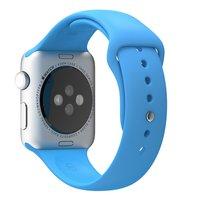 Спортивный силиконовый ремешок для Apple Watch 42мм голубой