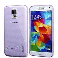 Фиолетовый прозрачный силиконовый чехол для Samsung Galaxy S5 mini