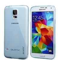 Голубой прозрачный силиконовый чехол для Samsung Galaxy S5 mini