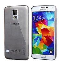 Серый прозрачный силиконовый чехол для Samsung Galaxy S5 mini