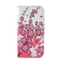 Чехол книжка для Samsung Galaxy S5 mini розовые цветы - Pink Flowers Book Case