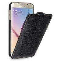 Черный кожаный чехол для Samsung Galaxy S6 - Sipo V-series Black