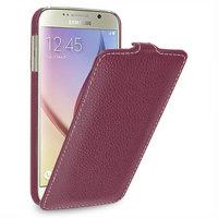 Фиолетовый кожаный чехол для Samsung Galaxy S6 - Sipo V-series Purple Leather Case