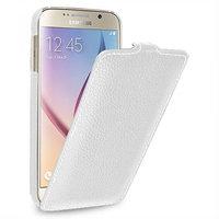 Белый кожаный чехол для Samsung Galaxy S6 - Sipo V-series White Leather Case