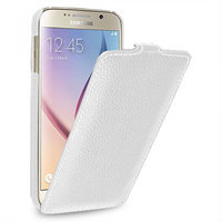 Белый кожаный чехол для Samsung Galaxy S6 - Sipo V-series White Leather Case