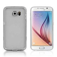 Силиконовый бампер для Samsung Galaxy S6 белый с прозрачной полосой
