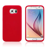 Красный силиконовый чехол для Samsung Galaxy S6