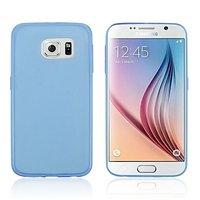 Голубой силиконовый чехол для Samsung Galaxy S6 Edge