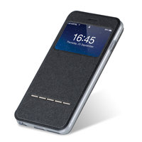 Черный чехол с окошком для Samsung Galaxy S6