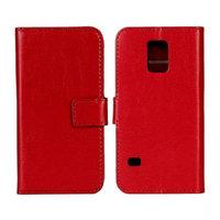 Красный чехол кошелек для Samsung Galaxy S5 mini - Crazy Horse Wallet Red Case