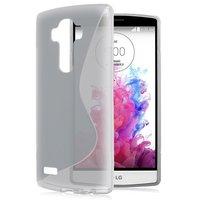 Серый силиконовый чехол c волной для LG G4 - S Line Silicone Case Grey