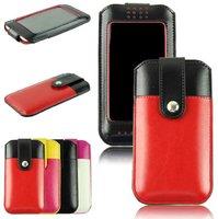 Чехол карман для iPhone 6 / 6s красно черный с окном и застежкой