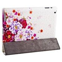 Чехол Jisoncase для iPad 4/ 3/ 2 розовые и белые цветы