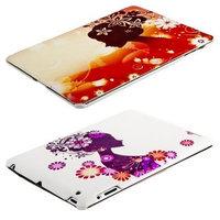 Чехол Jisoncase для iPad 4/ 3/ 2 девушка и цветы