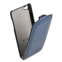 Кожаный чехол книжка Melkco для iPod Touch 4 Leather Case Jacka Type (Dark Blue LC)