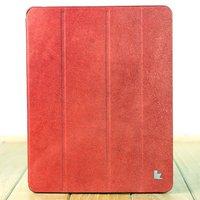 Чехол из натуральной кожи Jisoncase PREMIUM для iPad 4 / 3 / 2 красный