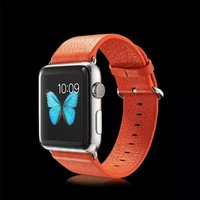 Оранжевый кожаный ремешок для Apple Watch 42мм - G-Case Genuine Leather Watchband Orange