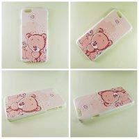 """Пластиковый чехол накладка для iPhone 6 / 6s (4.7"""") Розовый мишка"""