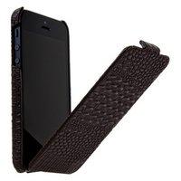 Кожаный чехол Borofone для iPhone 5c кофейный крокодил - Borofone Crocodile  flip Leather case Coffee