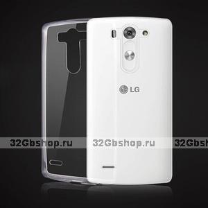 Прозрачный тонкий силиконовый чехол для LG G3s