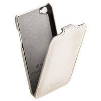 Кожаный чехол книжка Melkco для iPod Touch 4 Leather Case Jacka Type (White LC)