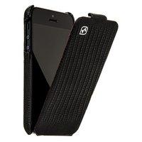 Кожаный чехол HOCO для iPhone 5c черная ящерица - HOCO Lizard pattern Leather Case Black