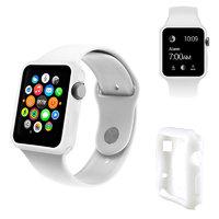 Белый силиконовый чехол для Apple Watch 42мм