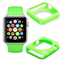Зеленый силиконовый чехол для Apple Watch 42мм