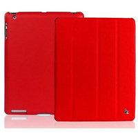 Кожаный чехол Jisoncase для iPad 4 / 3 / 2 красный