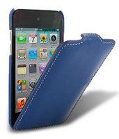 Кожаный чехол книжка Melkco для iPod Touch 4 Leather Case Jacka Type (Blue LC)