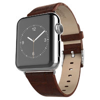 Кожаный ремешок Hoco для Apple Watch 42mm коричневый - Hoco Art Series Bamboo Real Leather Watchband Brown