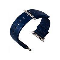 Кожаный ремешок для Apple Watch 38мм синий - G-Case Genuine Leather Watchband Blue