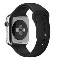 Спортивный силиконовый ремешок для Apple Watch 42мм черный