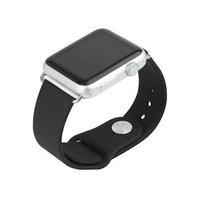 Черный силиконовый ремешок для Apple Watch 42мм со съемным адаптером