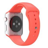 Спортивный силиконовый ремешок для Apple Watch 42мм розовый